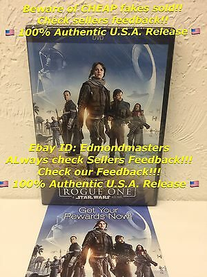 Rogue One A Star Wars Story DVD, BEWARE OF CHEAP FAKES SOLD W/O DISNEY REWARDS!