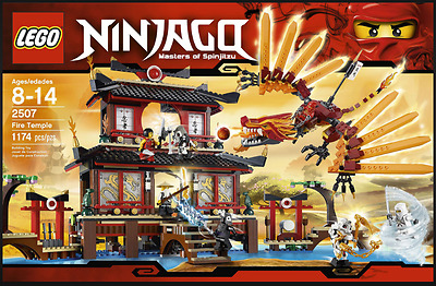 RETIRED LEGO 2507 Ninjago Fire Temple (New Sealed In Box)