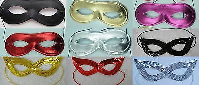 Pack Of 25, 50, 100, 200, 500 Assorted Colour Eye Masks, Party, Fancy Dress, Lot