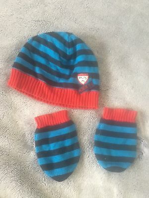 Mamas And Papas Boys 18-24 Months Hat And Gloves Set