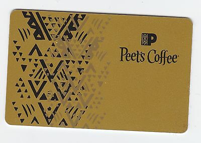 Peet's Coffee & Tea no value collectible gift card mint #08 Gold