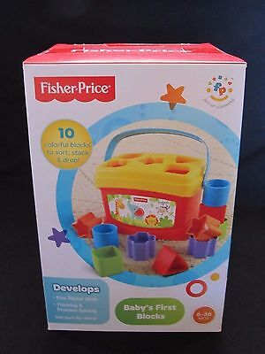 Fisher Price Baby's First Blocks Colors Shapes Sorting Stacking New Sealed Box