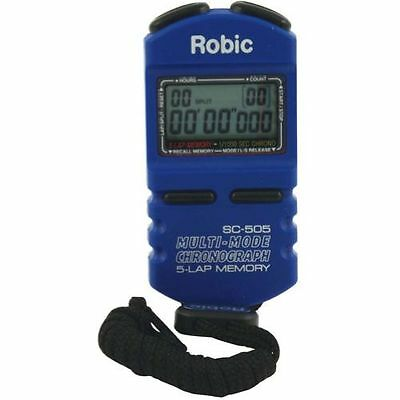 Quickcar Racing Products 51-040 Robic Stopwatch Digital 12 Lap Memory Multi Mode