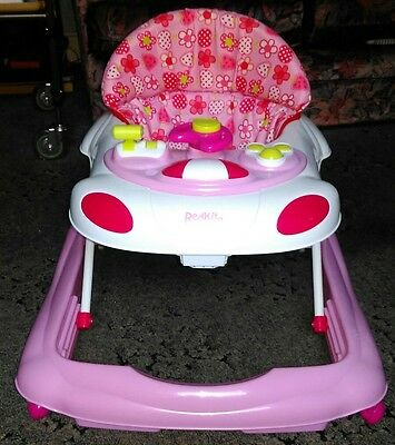 Red Kite Baby Walker, pink with musical activity tray, great condition!