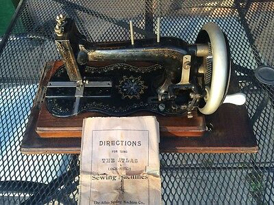Very Rare antique Victorian vintage Atlas of Camden Town sewing machine