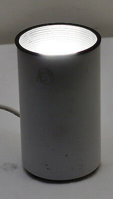VINTAGE 80s White Cylinder Table Lamp