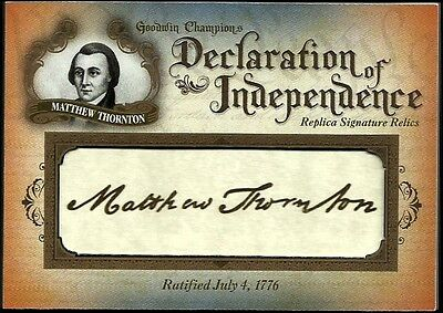 2016 Goodwin Champions Declaration of Independence Facsimile  M. Thornton #76/76
