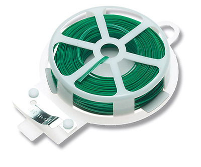 New Wire Twist Plant Ties Plastic Coated Garden Plant Tie Roll & Cutter Ap 1181""