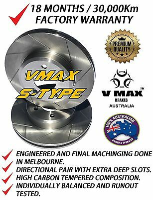 SLOTTED VMAXS fits FORD Territory 4.0L 2004-2011 FRONT Disc Brake Rotors