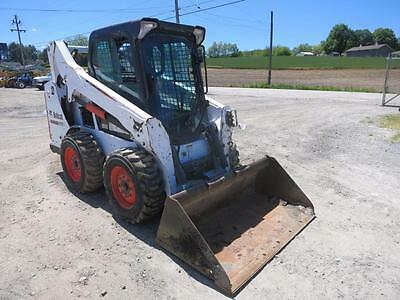 2014 Bobcat S 570 Skid Steer Loader, Cab, Heat/AC, 2 Speed, High Flow, 61 HP