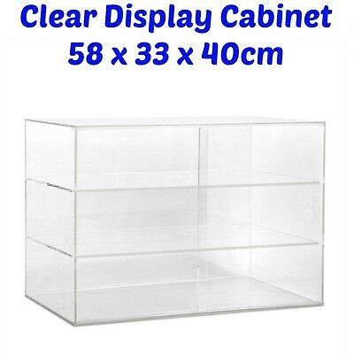 Shop Display Stand Cabinet Clear Showcase Acrylic Unit Bakery Jewel Cosmetic NEW
