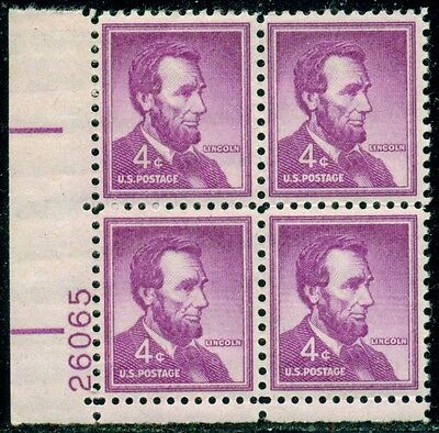 Scott # 1036 Plate Block, Mint, Og, Nh, Great Price!