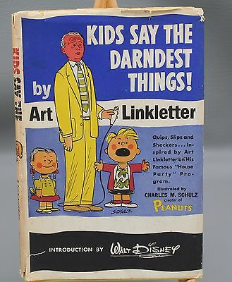 Kids Say the Darnedest Things by Art Linkletter, 1957, Hardcover with dustjacket