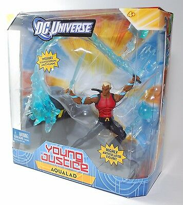 """DC Universe Young Justice AQUALAD w Sculped Diorama 6"""" Poseable Figure"""