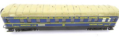 Marklin 346/3 J (4011.1) CIWL Sleeping coach, blue, tin plate, stub axle, used