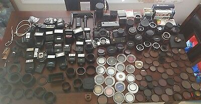 Large Pre-Owned Grab Bag Lot Of Camera Accessories---binHC