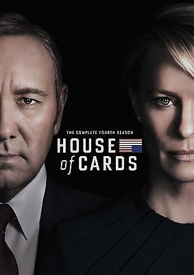 House of Cards: The Complete Fourth Season 4 4-Disc DVD NEW