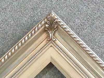 "3.25"" Silver Wood Antique Picture Frame photo art gallery 24""x36"" 296S"