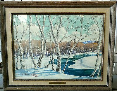 Signed Watercolor Landscape Painting by H. Ross Wiggs (RCA) Listed Canadian