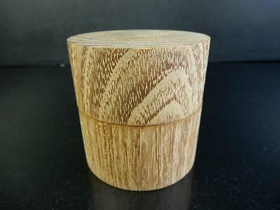 F8654: Japanese Wooden Mulberry tree TEA CADDY Chaire Container Tea Ceremony
