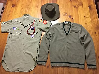 Collectable Australian Boy Scouts Shirt , Jumper , And Hat.