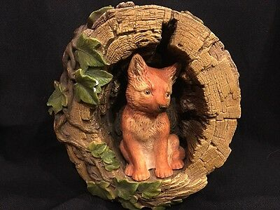 Vintage Bossons Congleton England Red Fox Cub Figurine Wall Art Chalkware 1971