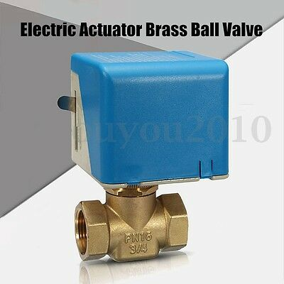 """DN20 G3/4"""" 220V Control Motorized Electrical Ball Valve Central Air Conditioner"""