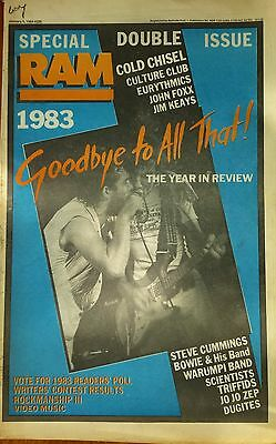 Cold Chisel The Triffids Scientists RAM 5th Jan 1984