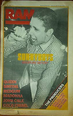 Sunnyboys The Smiths Cold Chisel RAM 11th May 1984