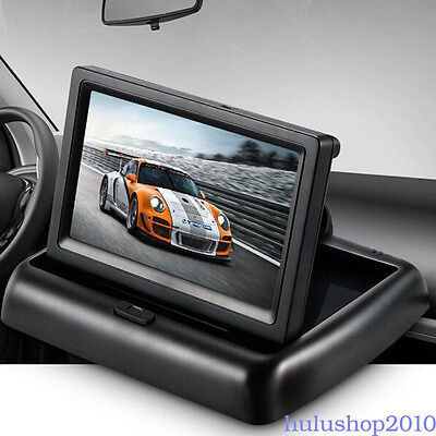"Foldable 4.3"" LCD TFT Monitor Car Video Player Rear View Camera Monitor Screen"