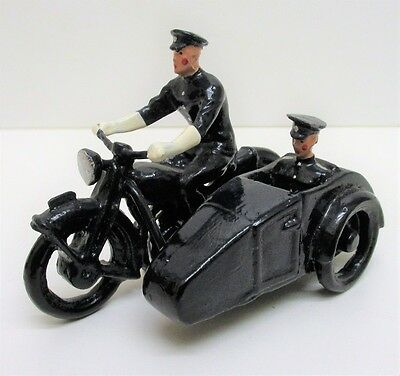 Dorset Collectables - Lead Alloy Police Motorcycle And Sidecar