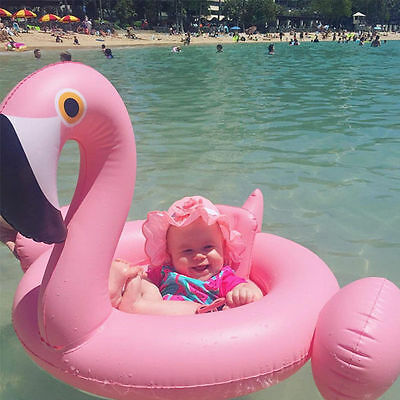 UK Baby Kids Swimming Ring Infant Flamingo Inflatable Float Seat Water Pool Toy