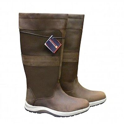 Maindeck Oceanic Tall Leather Boot Waterproof Wellie Boating Waling Sailing  KR2
