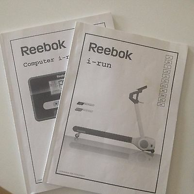 Reedbok I RUN treadmill Computer / User instruction manual book