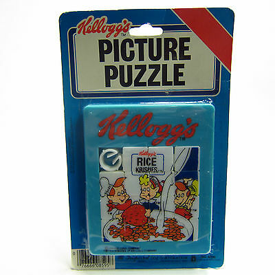 Vintage Kellogg's Rice Krispies Picture Puzzle 1984 Original Packaging