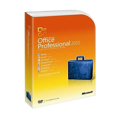 Microsoft Office Professional 2010 Full version/1 PC/DVD/Product Key Card