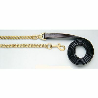 "Tough 1 Royal King Leather Lead Line 1"" Dark Oil"