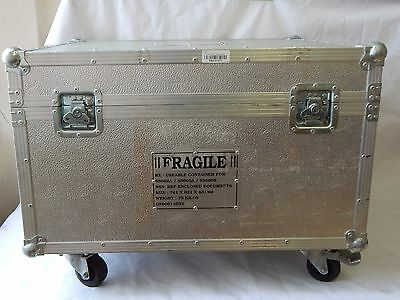 Ex Military Silver Flight Case With Wheels Transport & Storage [PC2]