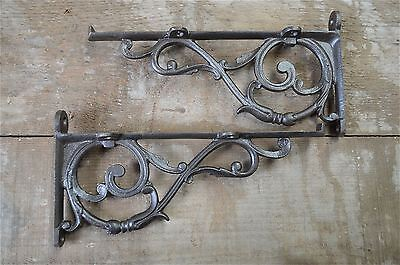 A pair of antique Acanthus brackets cast iron wall shelf bracket AL27