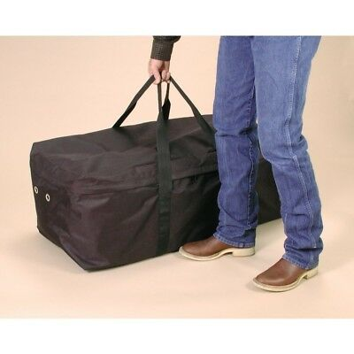 """Tough-1 Nylon Hay Bale Protector/Carrier with Full Zipper 42"""" x 18"""" x 16"""" Black"""