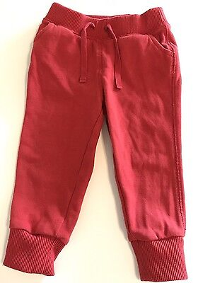 Baby Gap Boys Or Girls Red Sweat Pants Size 18-24 Months