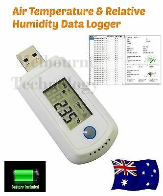 USB Air Temperature & Relative Humidity Data Logger Datalogger, 32000 data set