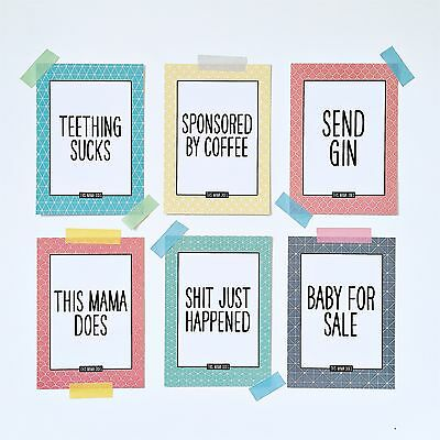This Mama Does Baby Cards | Alternative Funny Milestone Baby Cards | UK