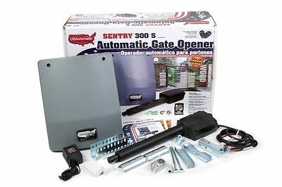 New Usautomatic 020320 Sentry 300 S Automatic Single Gate Opener Kit Solar Usa