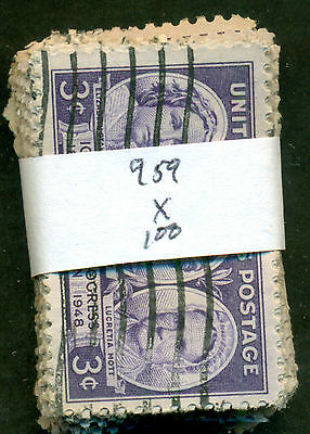 Scott # 959 Used, 100 Stamps, Great Price!