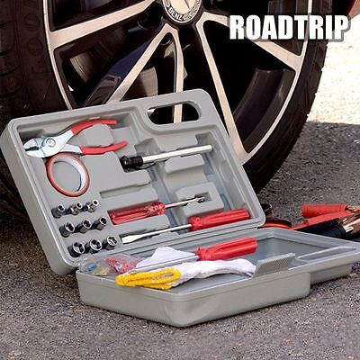 CARS ROAD TRIP EMERGENCY TOOL KIT - Complete Rapid Repair Toolkit Case For Cars