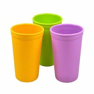 Re-Play 3 Pack Drinking Cups, Pink/Purple/Green - 80705