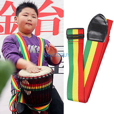 New African Hand Drum Strap Cotton Djembe Standing Strap Colorful for Drummer