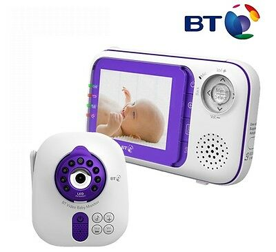 BT 1000 Digital VIDEO SOUND Baby Monitor 2.8 Inch COLOUR LCD Display Screen VGC