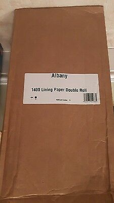 albany box of 6 double rolls lining paper 1400 new unopened